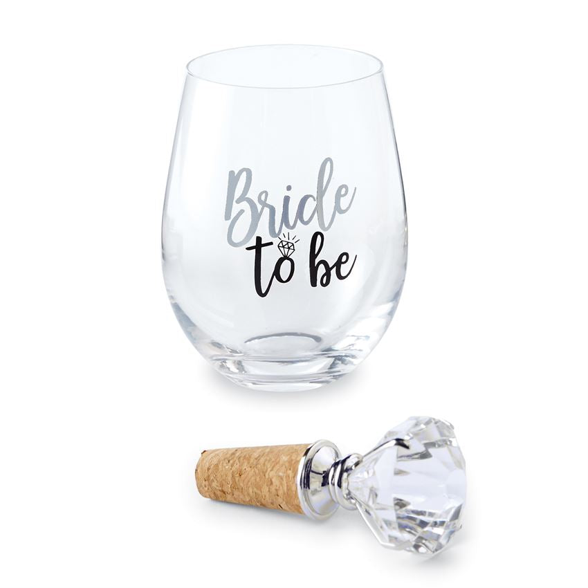 Bride To Be Wine Glass Topper Set