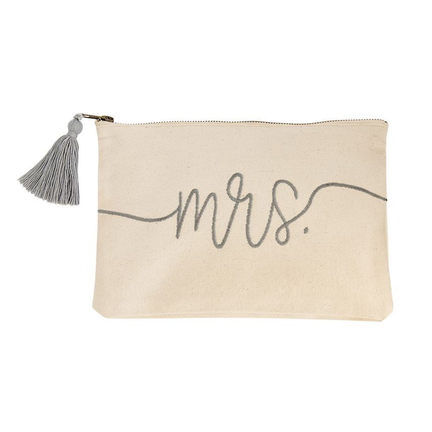 Mrs. Embroidered Canvas Bag