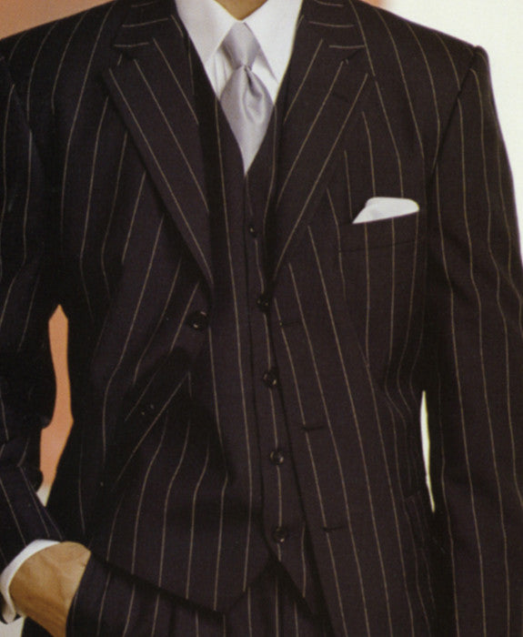 Black with white pinstripe