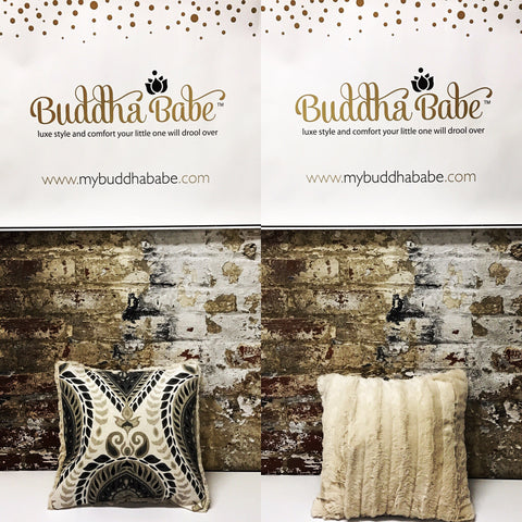Buddha Pillow - Canvas/Mink (Two Prints Available)