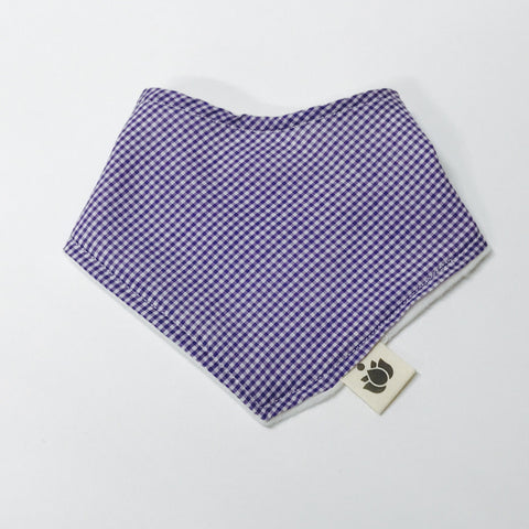 Buddha Bib -  Purple Gingham