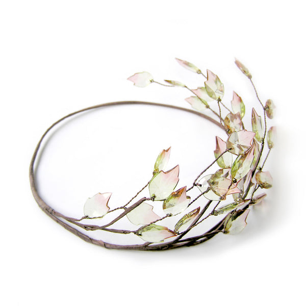 Leaf Crown, Rustic Wedding Leaf Tiara, Bridal Hair Accessory, Spring Hair Accessories, Grecian, Halo