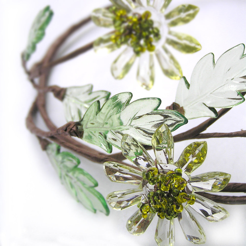 Flower Crown, Rustic Bridal Flower Crown, Wedding Hair Tiara