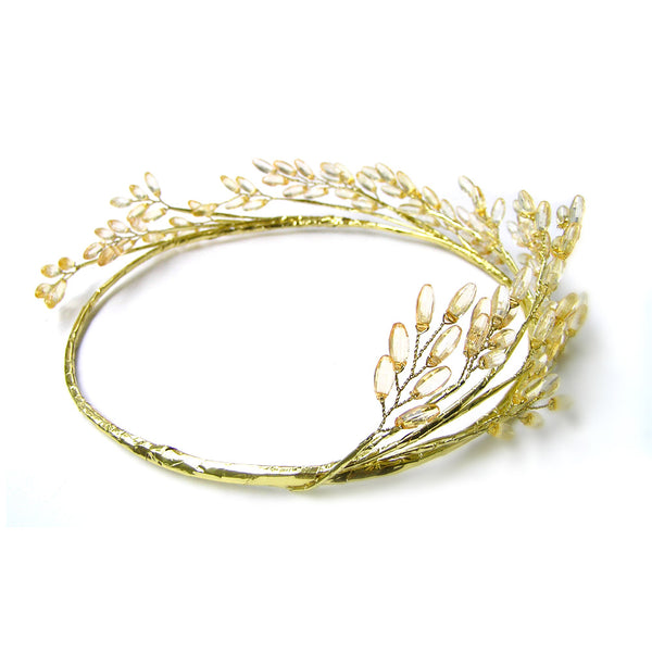 Gold Head Crown, Gold Flower Crown, Gold Hair Accessories