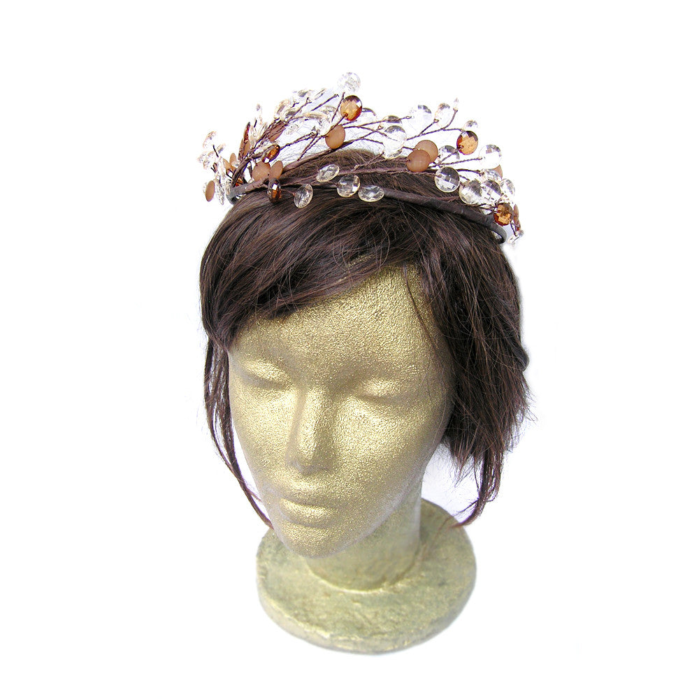 Rustic Wedding Crown, Floral Crown, Hair Vine
