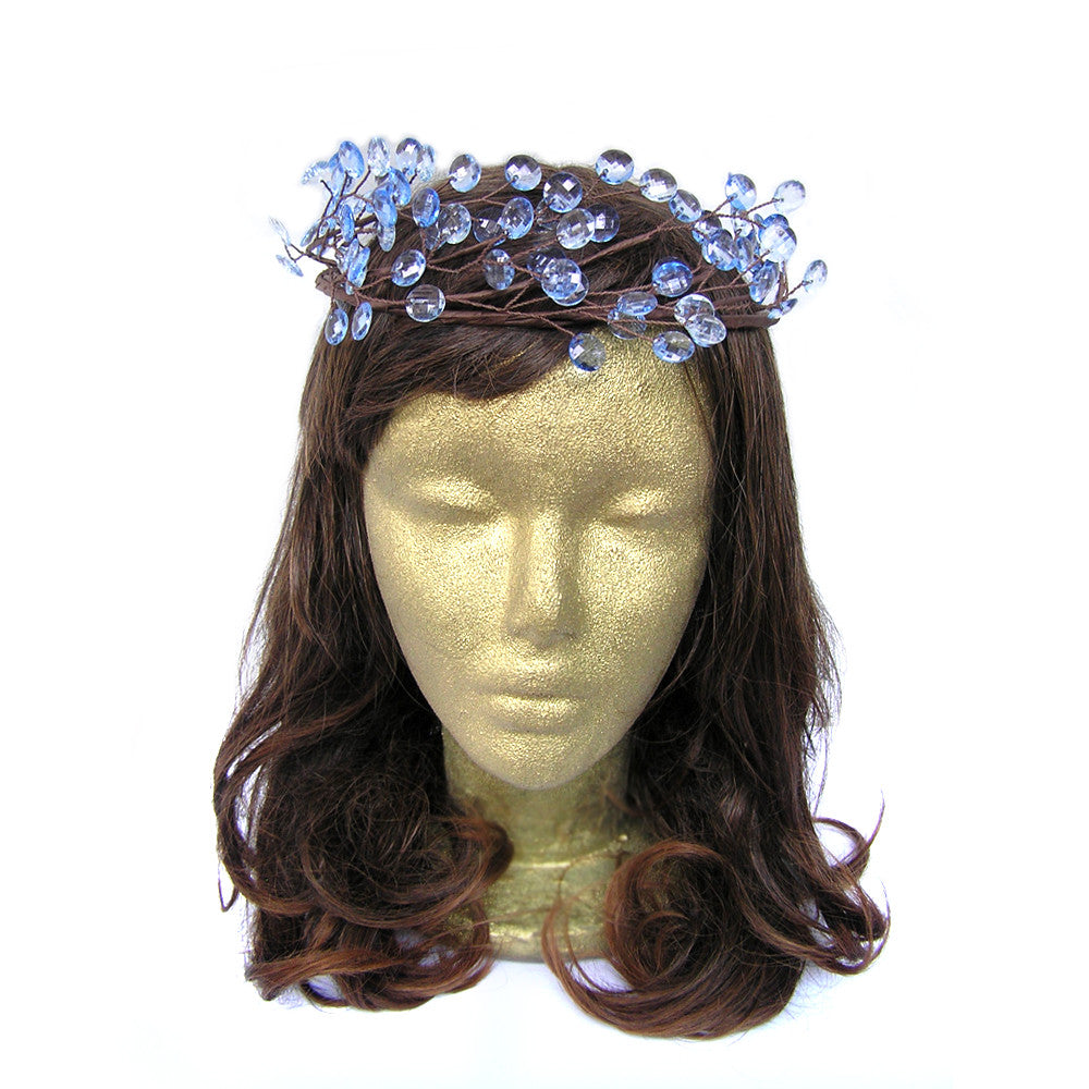Rustic Wedding Hair Pieces, Blue Headband, Garden Party Clothing, Forest Wedding Clothing