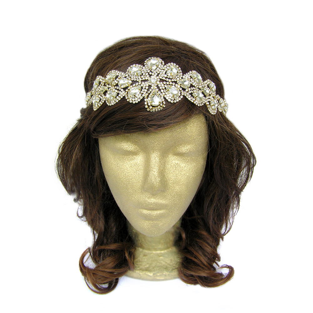 Bridal Wedding Rhinestone Headpiece, Vintage Style Hair Accessories, Classy Hair Jewelry for Wedding