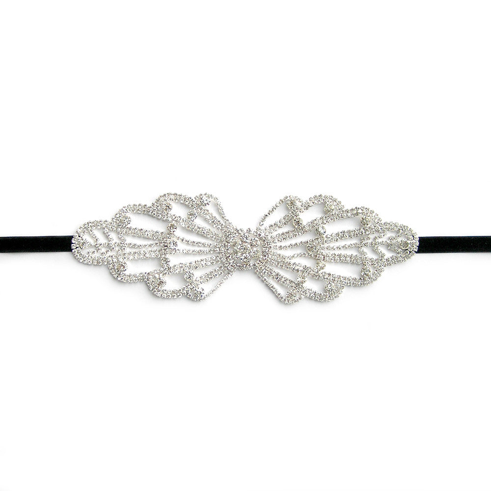 Big Bow Headband, 1940s Bow Headband, Bridal Bow Hair Accessories