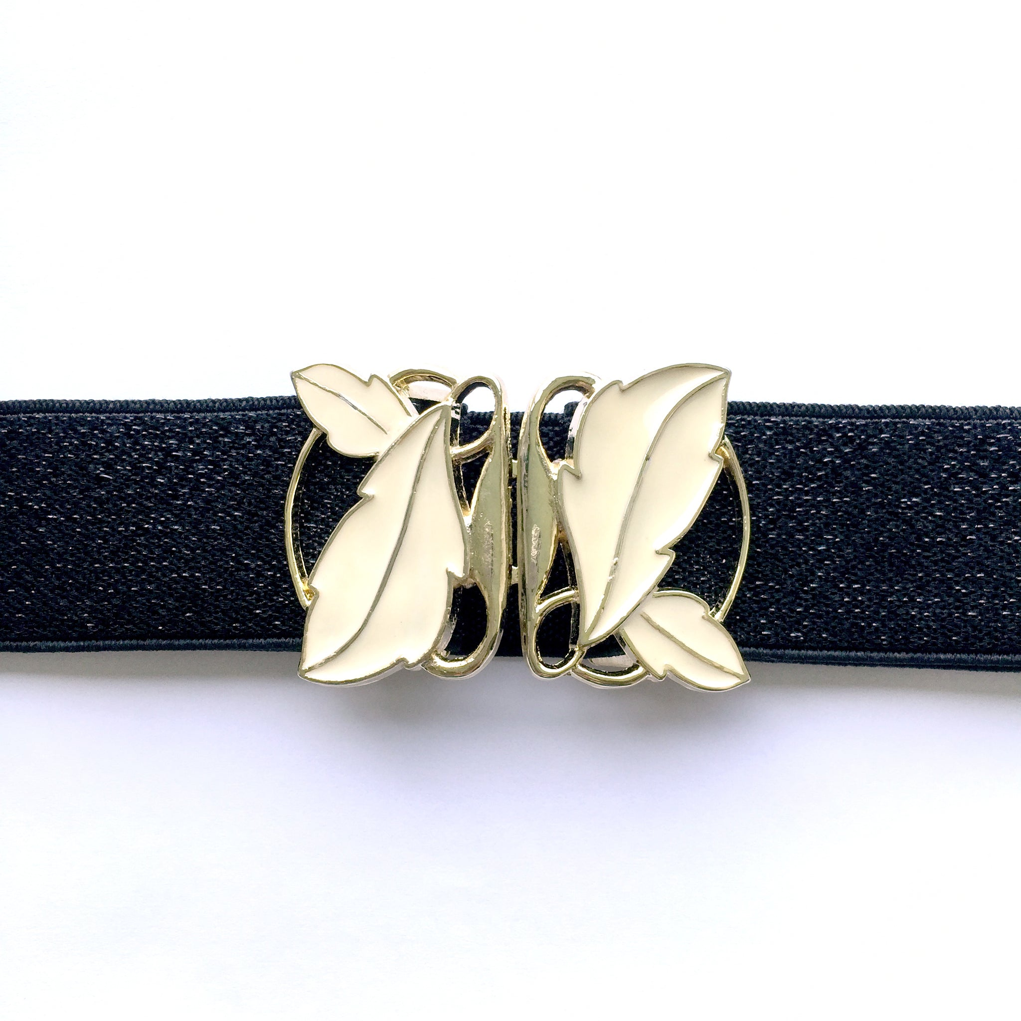 Retro Gold Leaf Belt, Women Black Shiny Belt, Custom Plus Size Belt for Dress