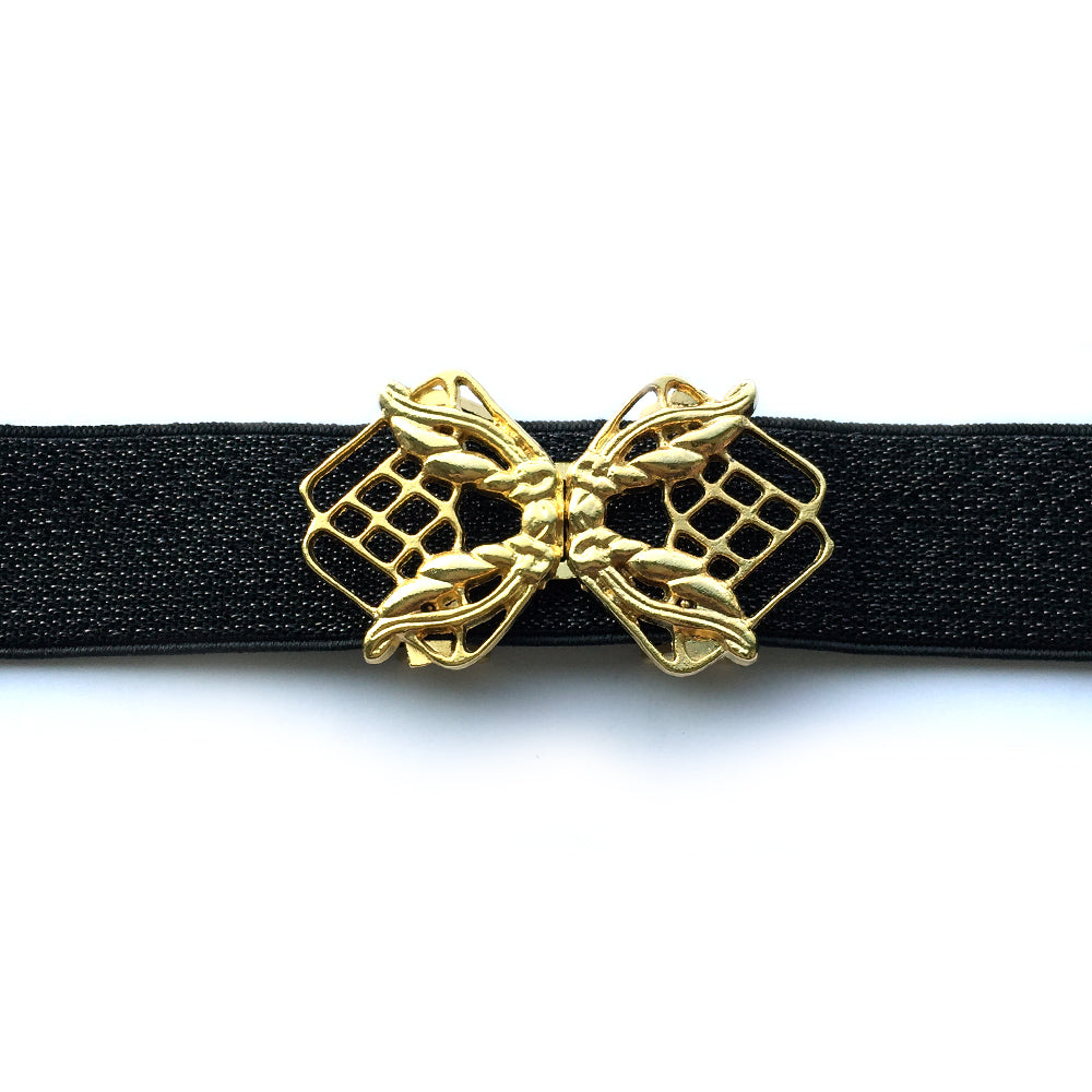 Black and Gold Evening Belt, Custom Women Stretch Belt, Dress Belt Sparkly