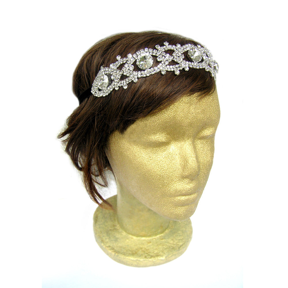 Rhinestone Hair Accessories, Silver Rhinestone Headband, Bridal Shower
