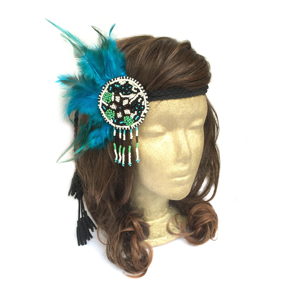 Pocahonta Costume Adult Kids Idea, Tribal Headdress, Boho Hippie Gypsy Party Costume