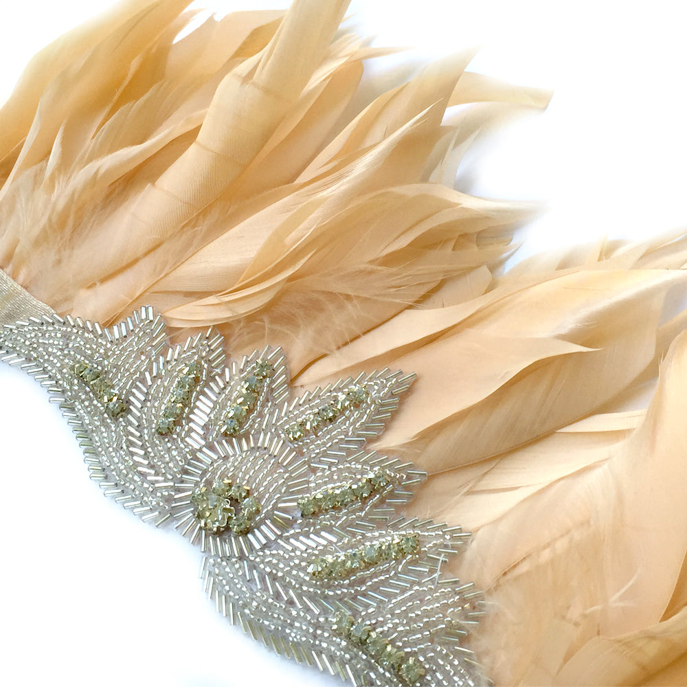 Bohemian Wedding Hair Accessory, Feather Headdress, Feather Headpiece Costume, Boho Chic Jewelry