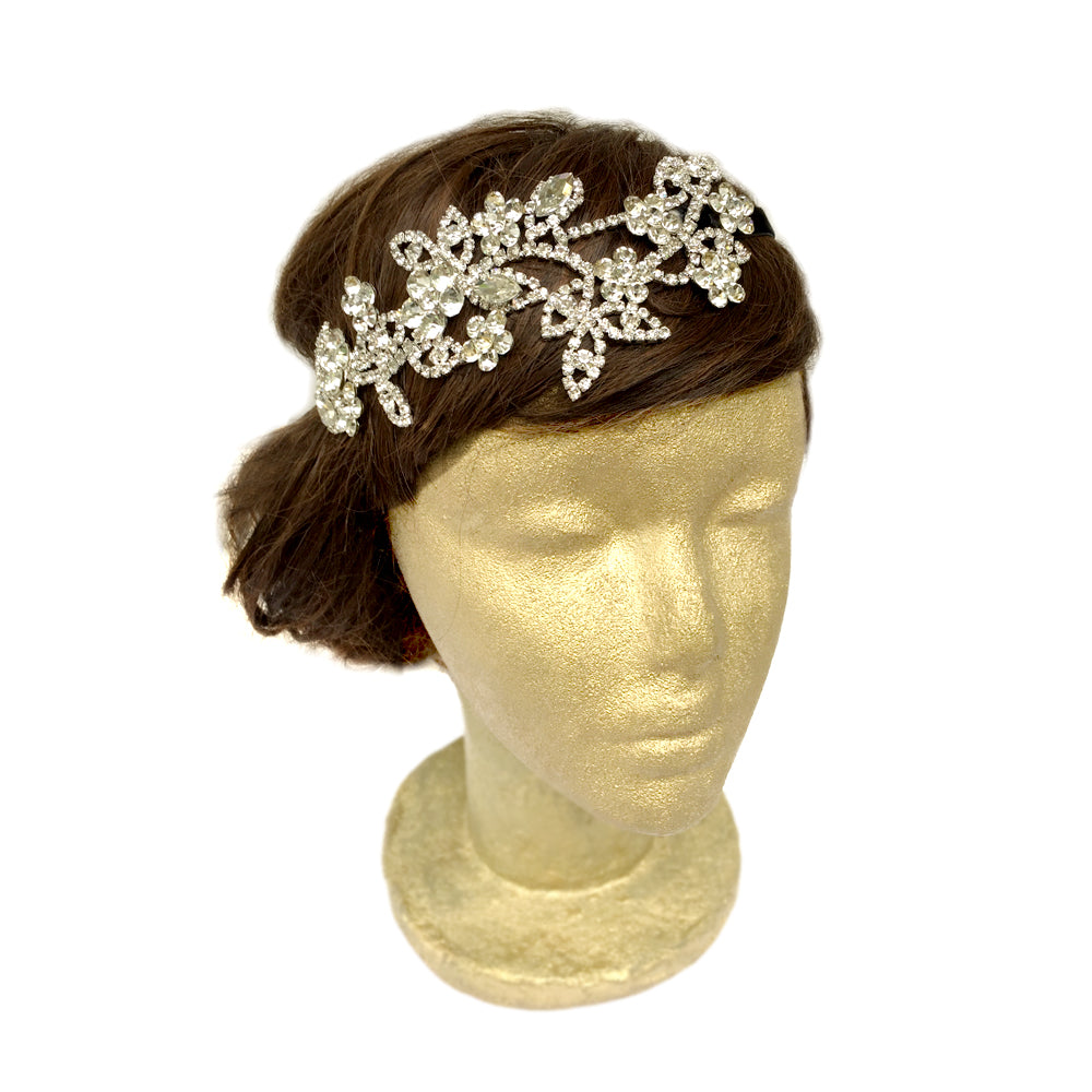 Gold Wedding Headband, Bridal Hair Piece Vintage, Bridal Hair Accessories Flowers