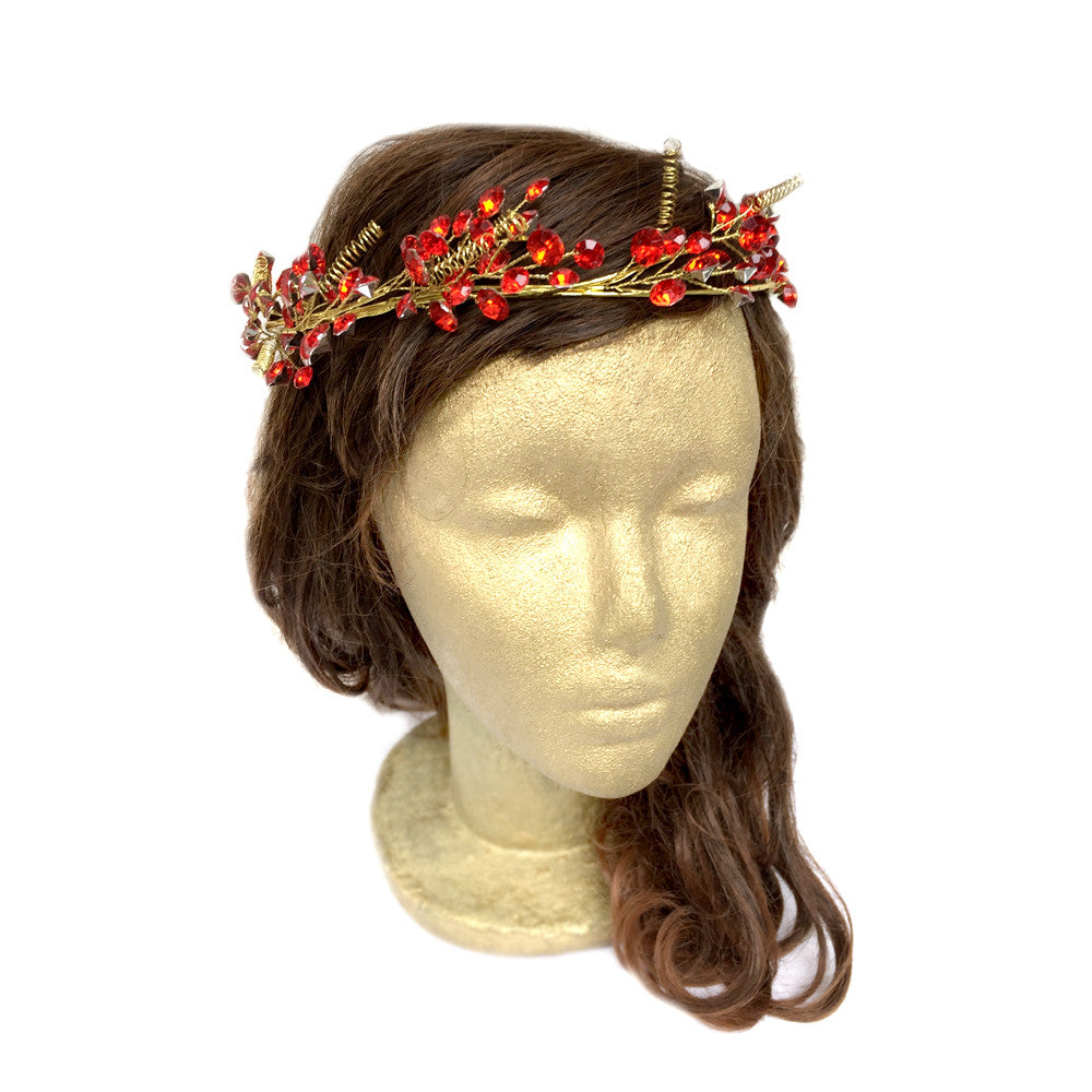 Red Hair Accessories, Hair Vine Wedding, Tiara Wedding Hair, Crown, Hair Wreath, Garden, Rustic