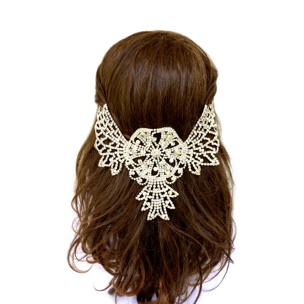 Statement Bridal Hair Accessories, Vintage Style Hair Clips, Rhinestone Hair Piece Dance