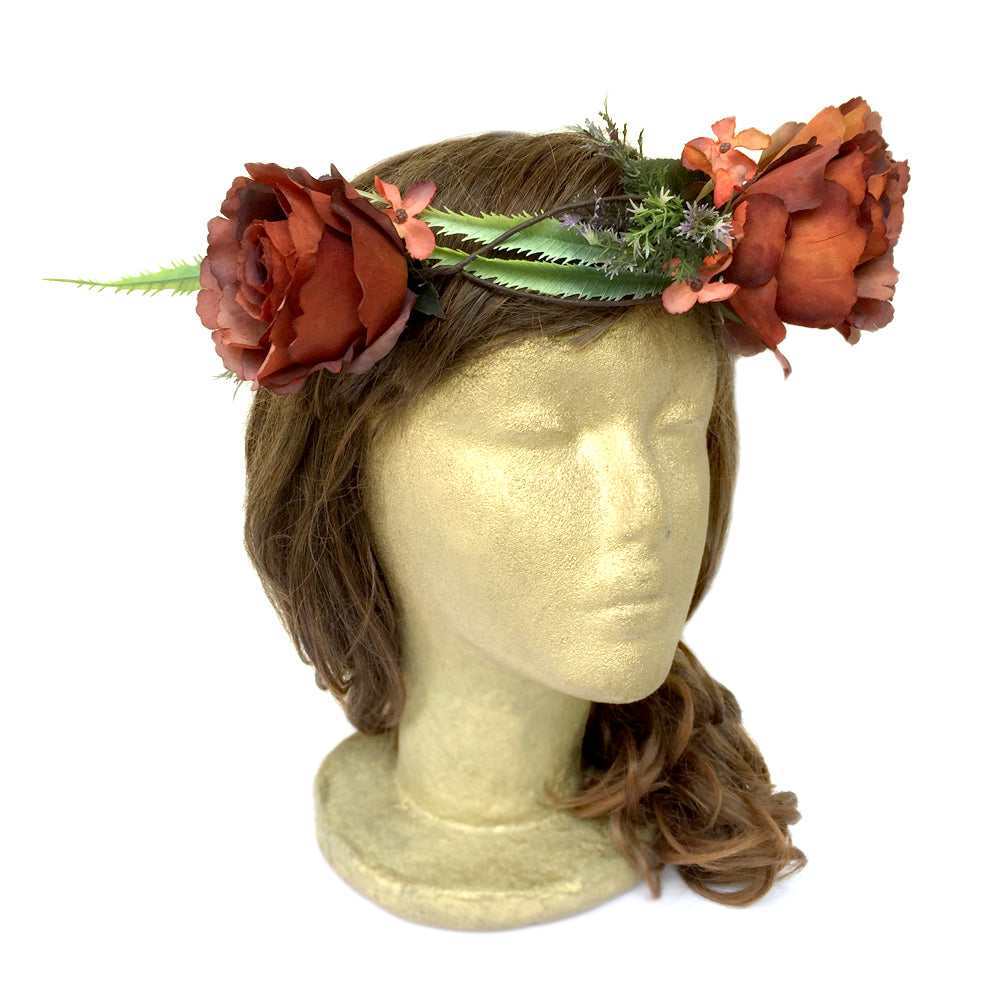 Rustic Wedding Hair Piece, Boho Bridal Hair Accessory, Costume Crown