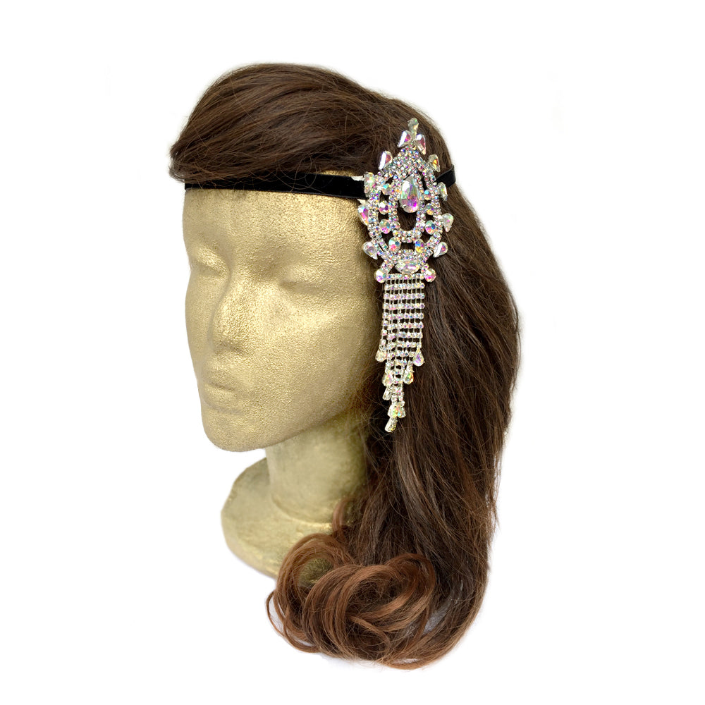 Rhinestone Hair Piece for Wedding, Bridal Hair Accessories Headband, Silver, Gold, AB Rhinestone, Red, Dark Blue