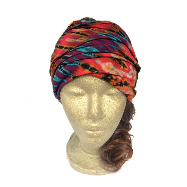 Tie Dye Headband, Extra Wide Scrunch Headband, Wide Headband Wrap
