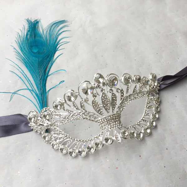 Silver Masquerade Mask Makeup, Masquerade Dance Party, Silver Rhinestone Mask Venetian, Valentine's Day