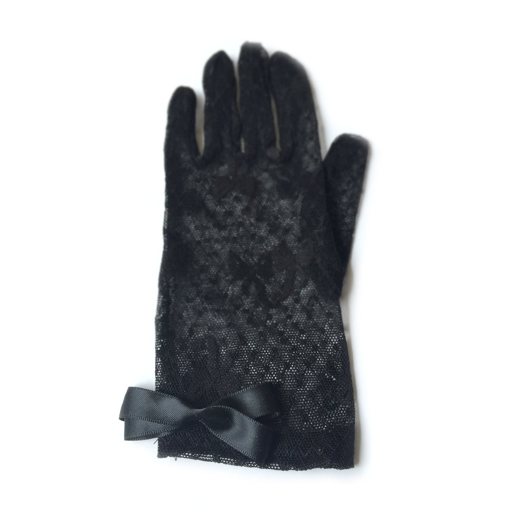 Black Lace Formal Gloves, Sheer Gloves, Bridal Lace Gloves, Black Gloves