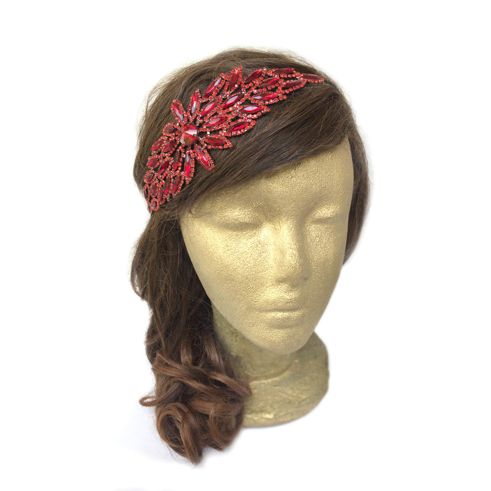 Leaf Hair Accessories, Red Wedding Hair Accessories, Red Headband, Prom Hair Accessories, Dark Blue, Black