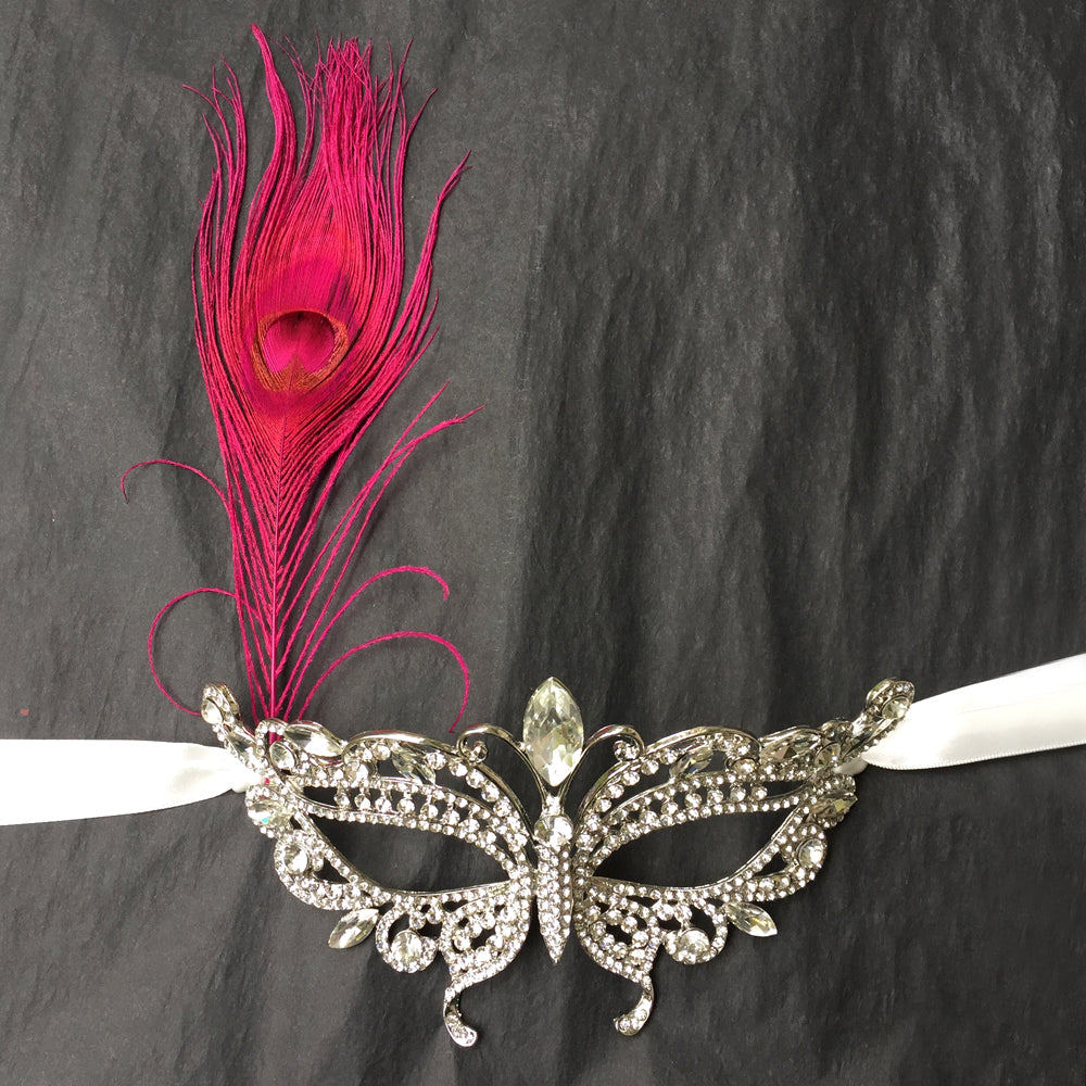 Masquerade Mask with Peacock Feather, Masquerade Ball, Masquerade Party