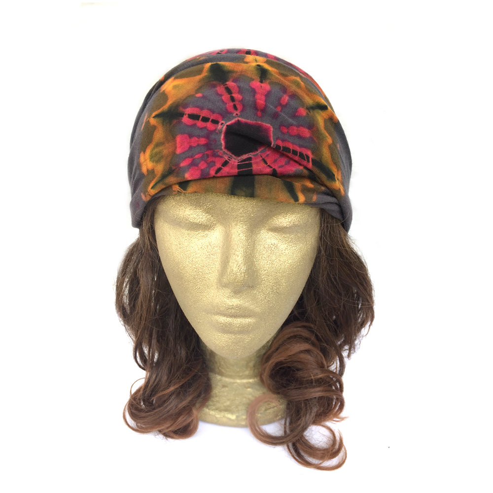 Yoga Bandana Head Wrap, Workout Headband, Tie Dye Hippie Headband