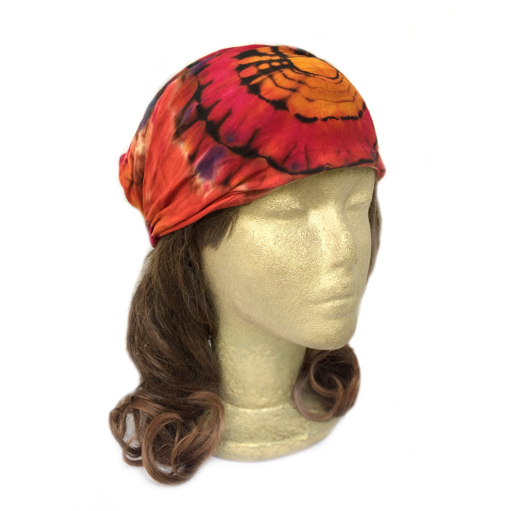 Yoga HeadBand, Tie Dye Cotton Stretchy Jersey Wide Headband, Women's Turban Headband