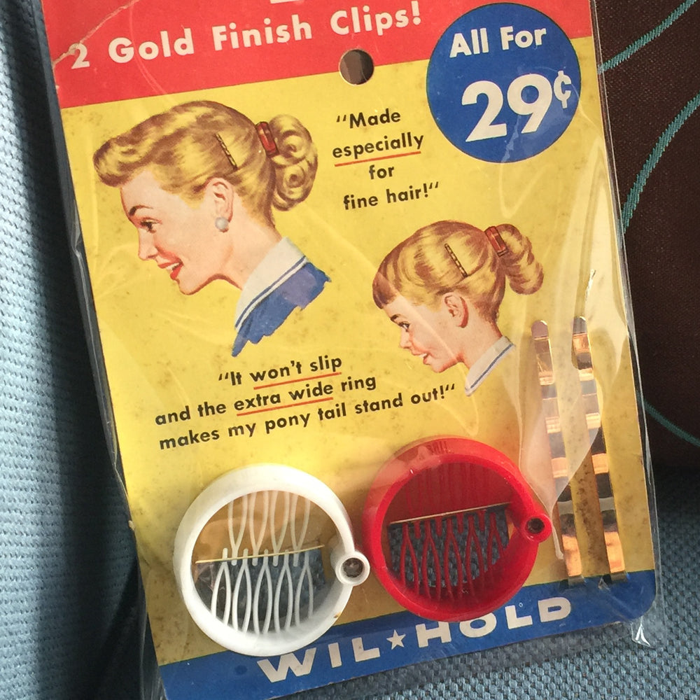 Vintage Double Ring Comb and Hair Pins, Retro Hair Accessory