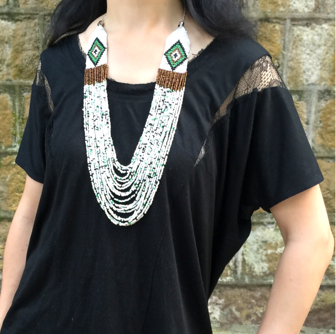 Hippie Necklace, Beads Necklace, Statement Necklace
