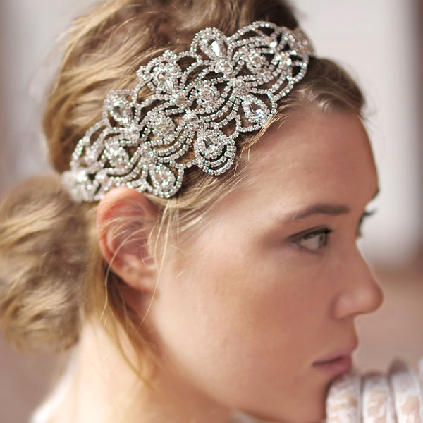 Wedding Headband Rhinestone Headband, Bridal Shower, Boho Wedding Hair Accessories