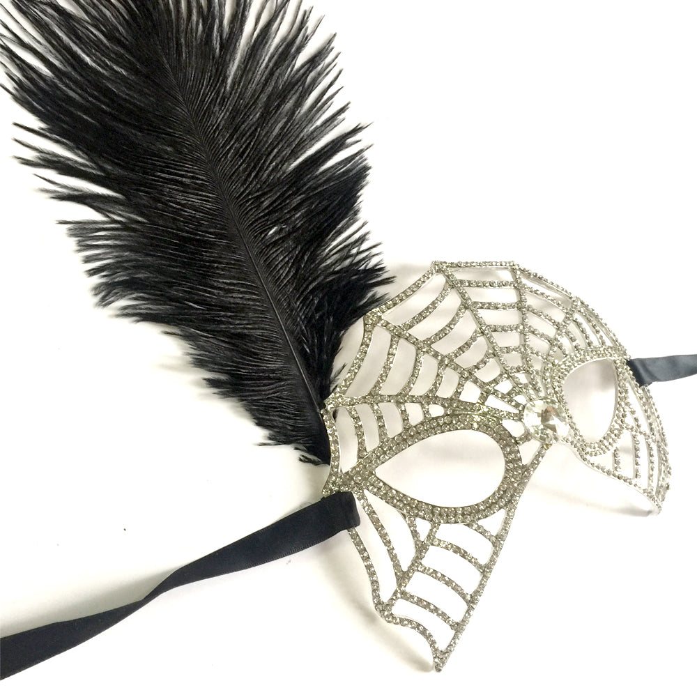 Halloween Costume, Spiderweb Mask, Cosplay Party Mask