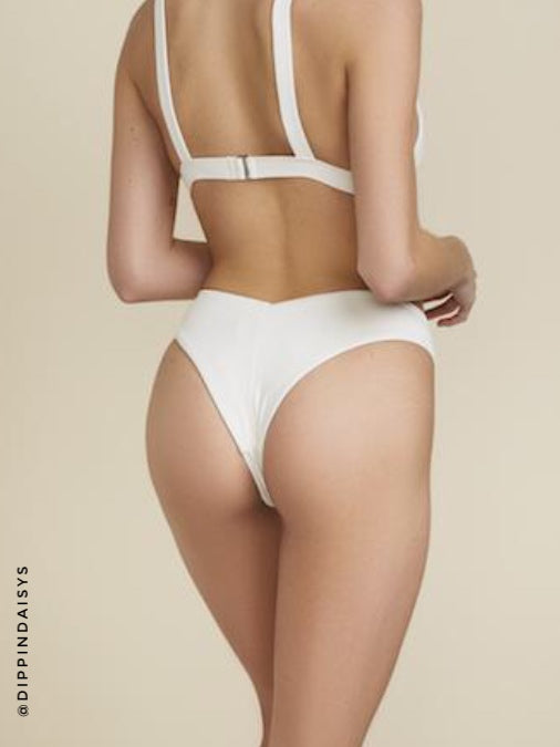 Tie-Front Top & V-Cut Cheeky Bottoms Swim Set by Dippin' Daisy's