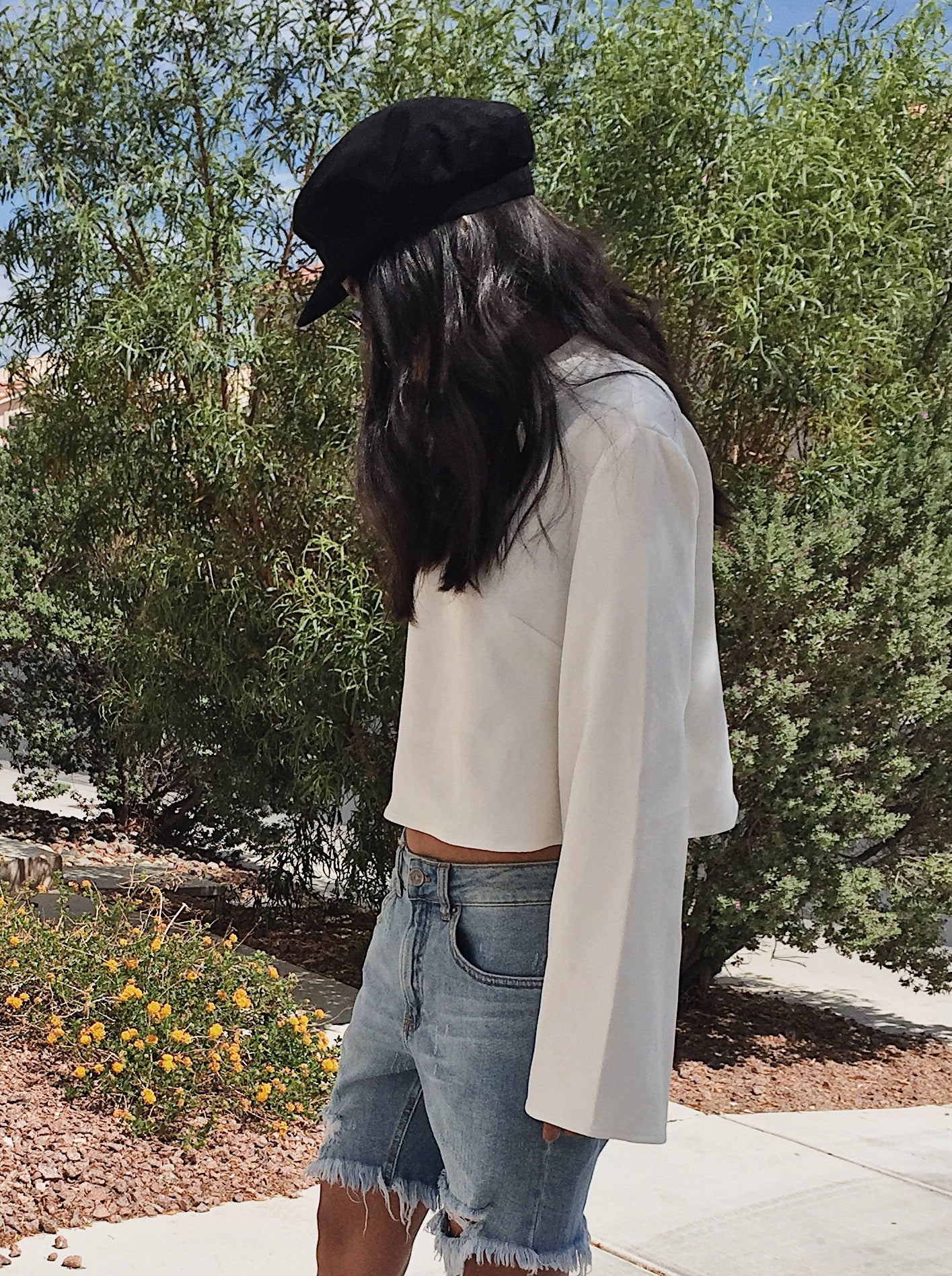 Stay Awhile Bell-Sleeve Top by The Fifth Label