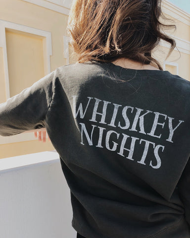 Coffee Days Whiskey Nights Sweatshirt by Daydreamer LA