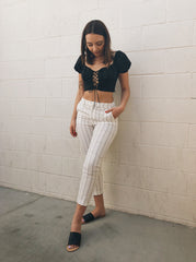 Vanessa Lace-Up Crop Top