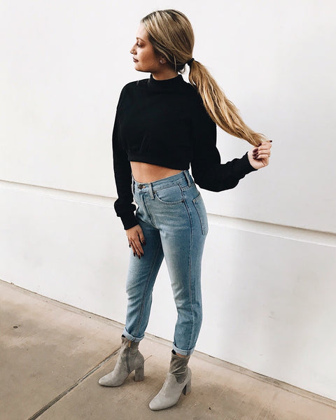 Ren Cropped Sweater Top