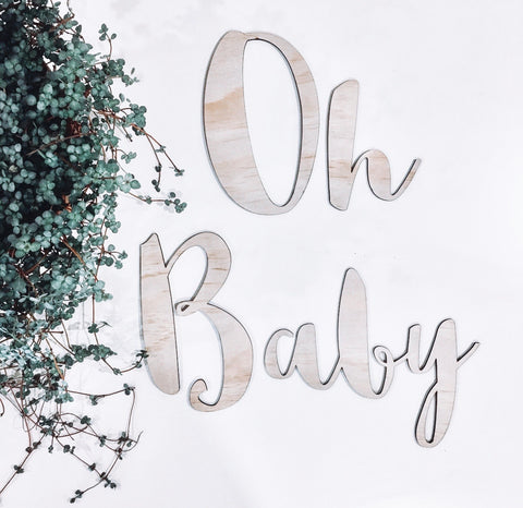large baby shower signage