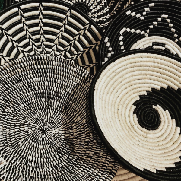 Hand-woven African bowl