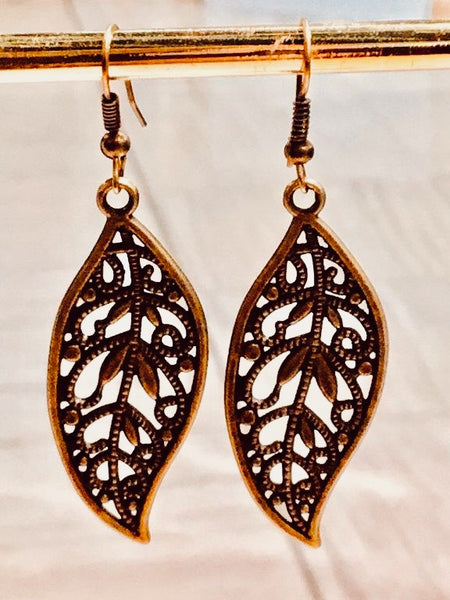 Bronze Filigree Earrings
