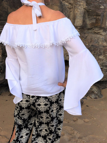 Alyria Top White with Lace