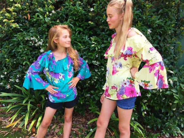 Kids/Tweens Flare Sleeve Top