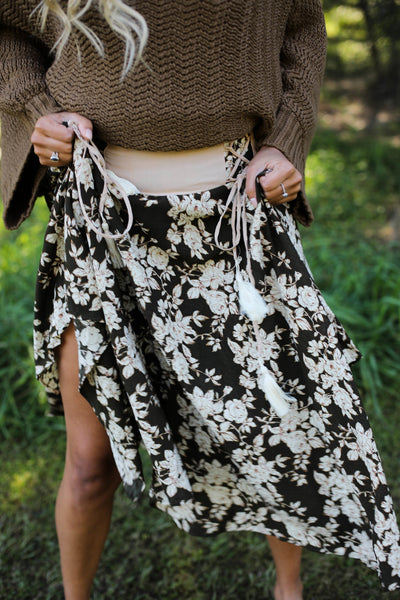 Marguerite Skirt - Antique Olive Rose