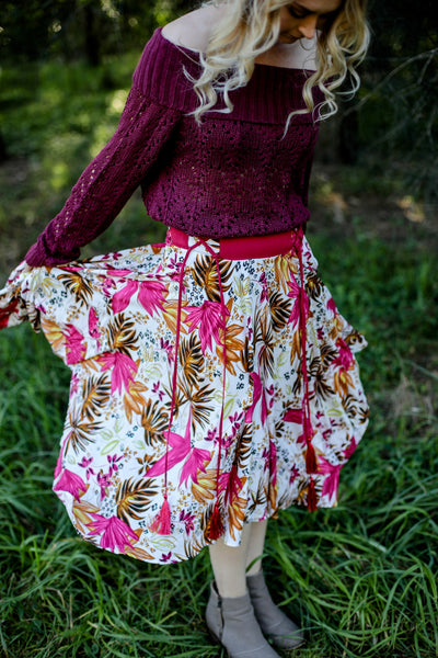 Marguerite Skirt Vintage Fern Rose