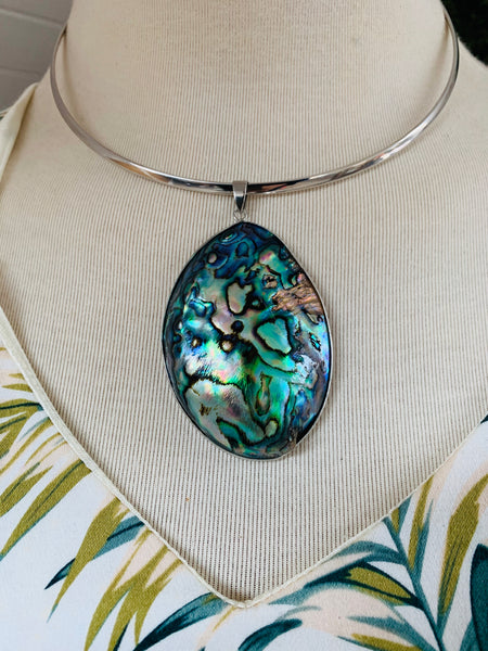 NZ Paua Shell Necklace