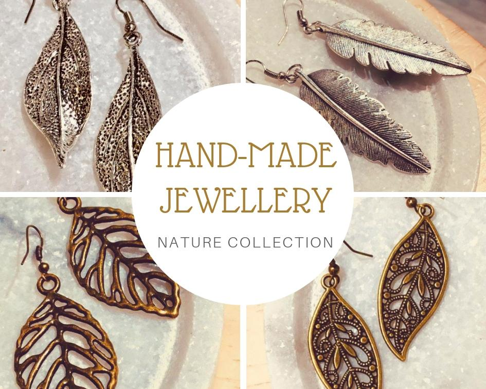 handmade jewellery, nature inspired earrings