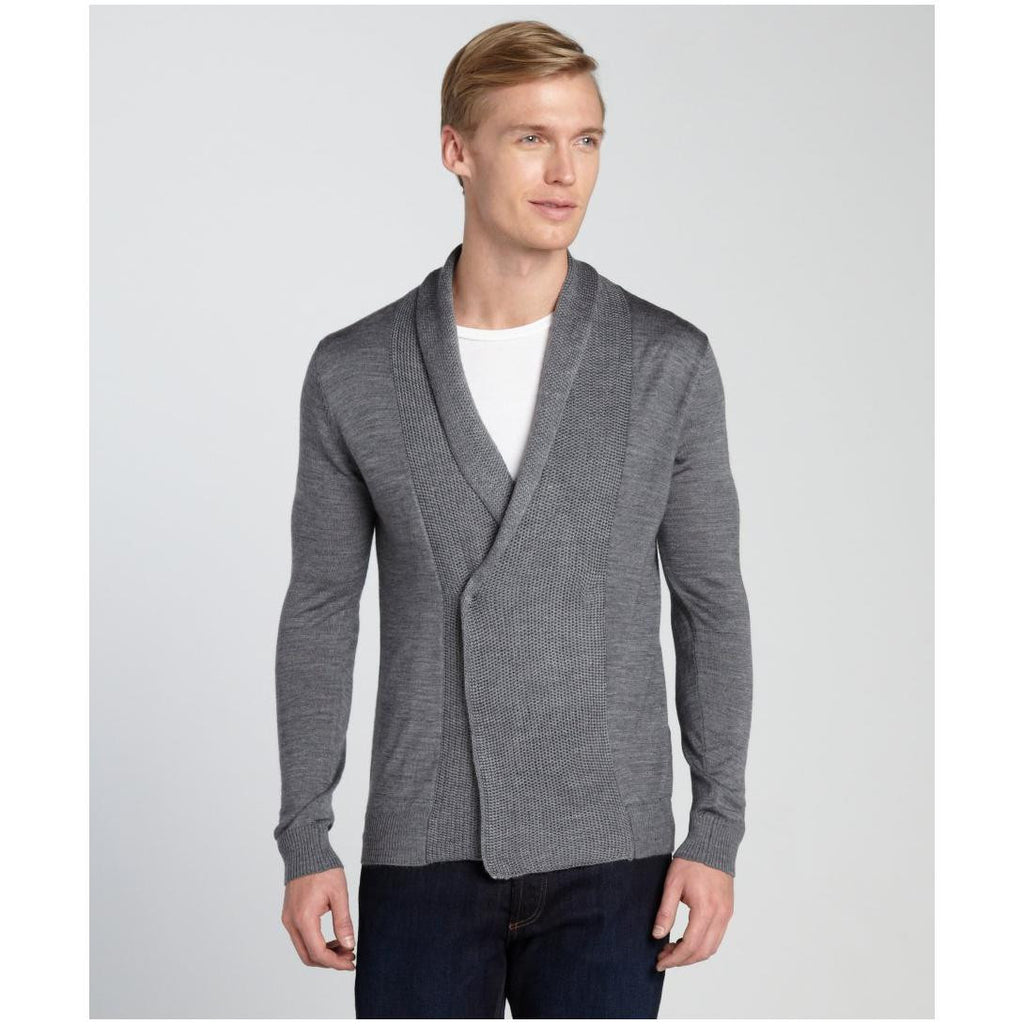 1291-Antony-Morato-men-s-grey-wool-blend-shawl-collar-sweater-1