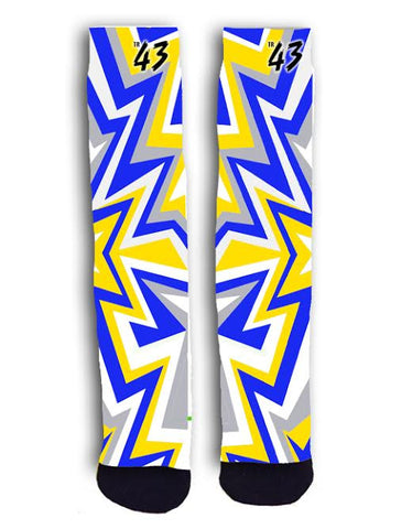 Blue and Gold Zig Zag (Warriors)