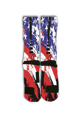 American Flag Custom Elite Socks